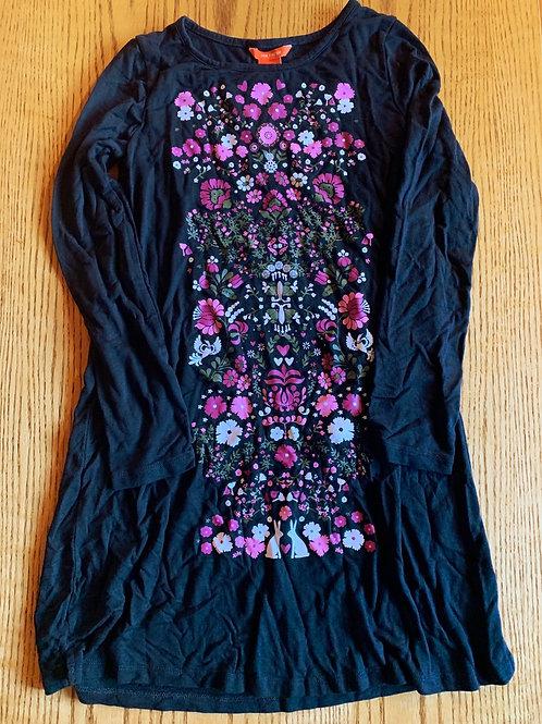 Size 7/8 Black Flower Dress