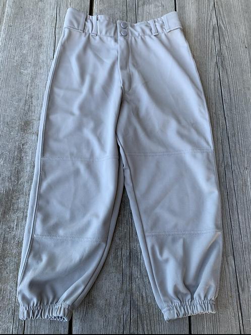 Size L Youth FRANKLIN Grey Baseball Pants