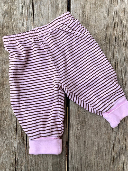 Size 0-3m CARTER'S Pink and Brown Pants