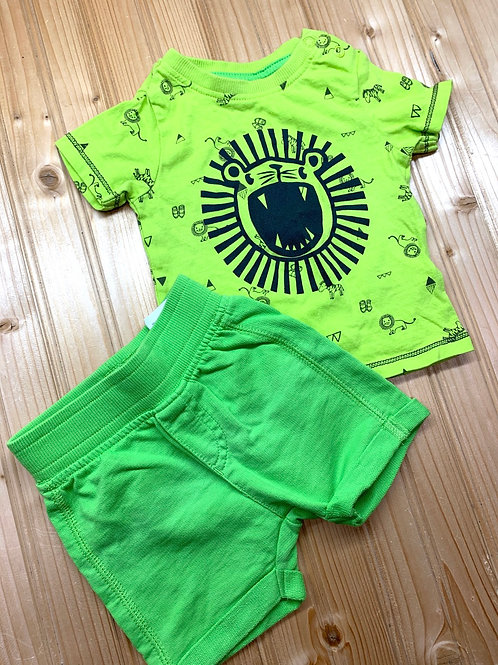 Size NB (1-2m) Lime Green Lion Summer Set
