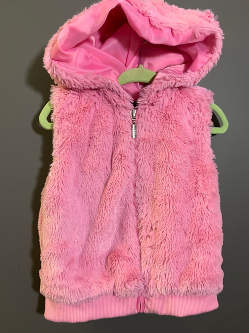 Size 18m US POLO ASSOCIATION Pink Super Soft Fuzzy Bear Ear Vest