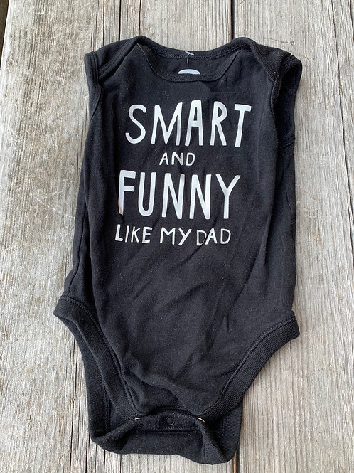 Size 6-12m Smart Like My Dad Onesie