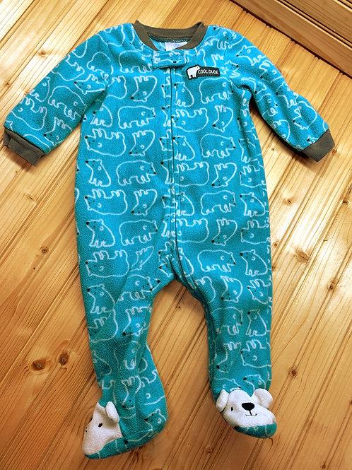 Size 3-6m Blue Polar Bear Fleece PJ