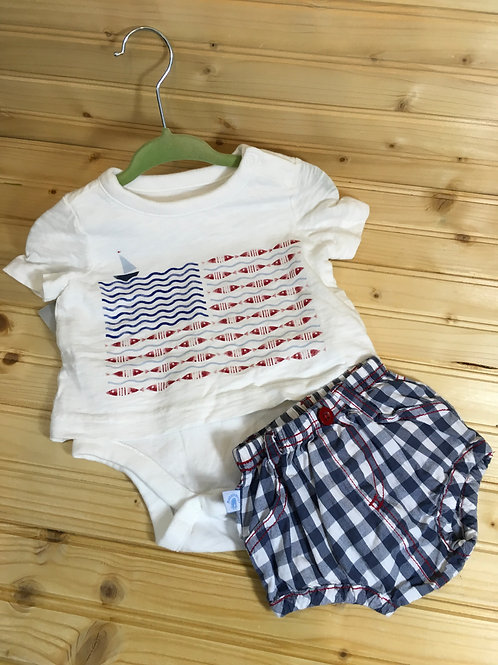 Size 0-3m BABY GAP American Sailboat Fish Patriotic Set