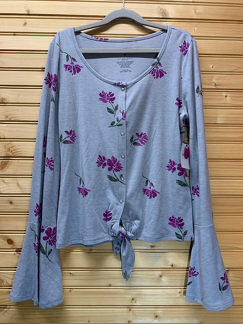 Size XS New Grey Gloral Top
