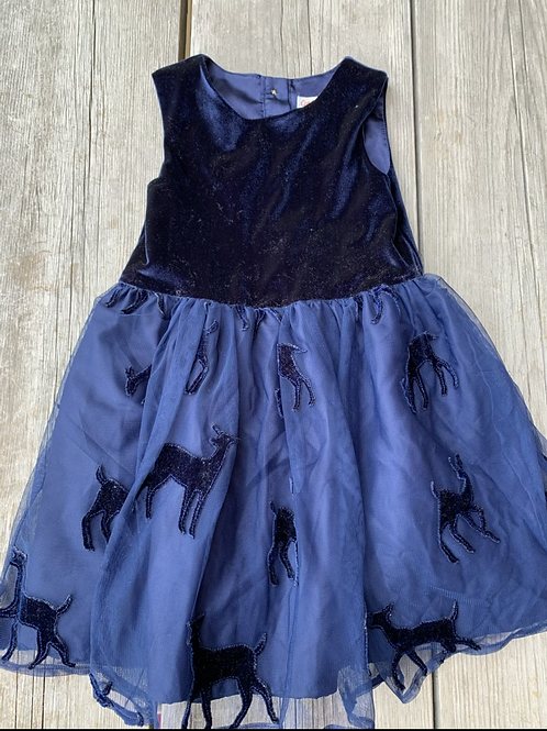 Size 4T CAT & JACK Royal Blue Deer Dress
