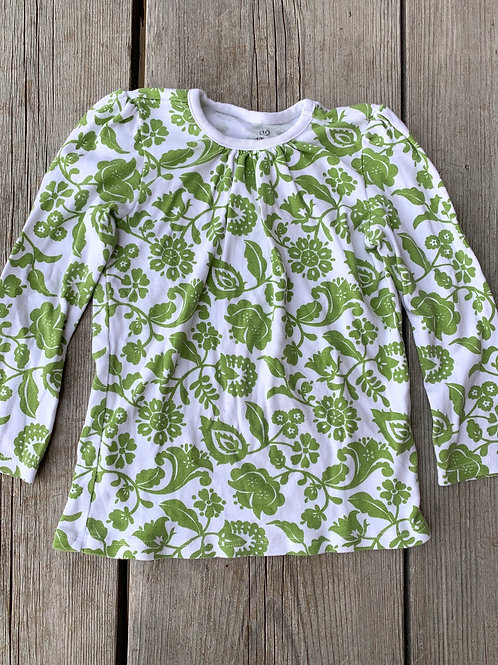 Size 4T OLD NAVY Green Floral Shirt