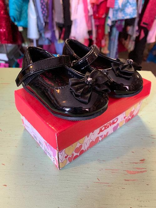 2 Infant Black Patent Leather Shoes