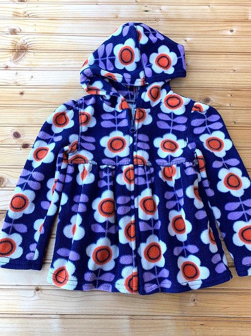 Size 3T Purple Flower Fleece Hoodie