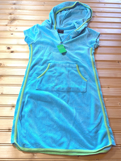 Size 6 CHILDREN'S PLACE Blue and Green Swim Cover, Used