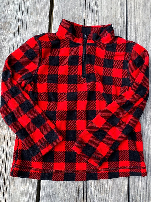 Size 5T Fleece Buffalo Plaid Sweater