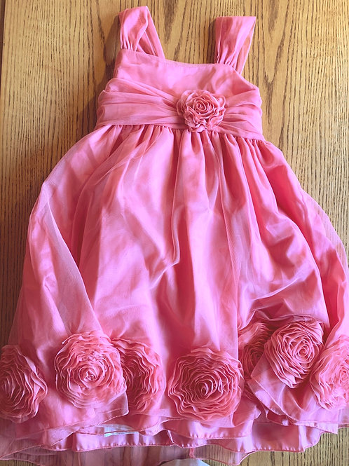 Size 7/8 KIDS DREAMS Coral Flower Dress, Used
