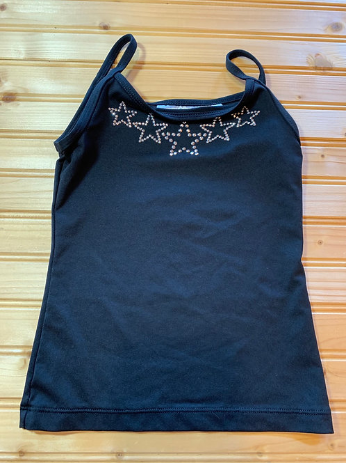 Size 6/6x DANSKIN Black Tank Top, Used