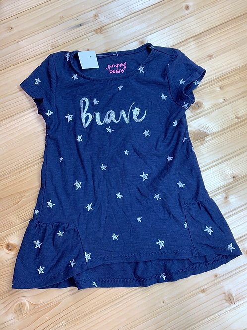Size 3T JUMPING BEANS Brave Glitter Shirt