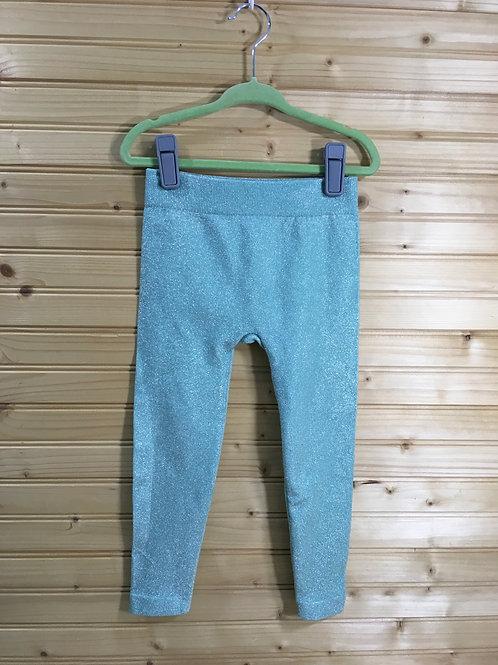4/5 Girls - Seafoam Minty Green Sparkle Leggings