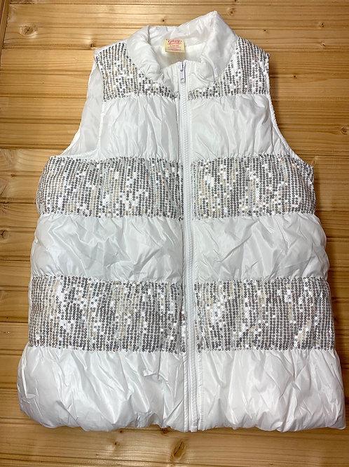 Size 10/12 White Puff Vest