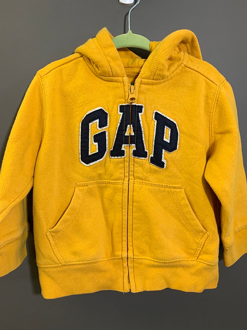Size 18-24m GAP Mustard Yellow Zip Up Hoodie