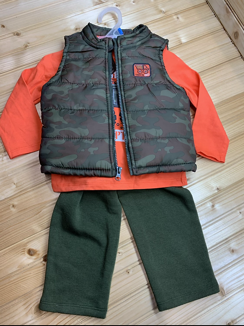 Size 24m HEALTHTEX New 3pc Orange and Camo Outfit
