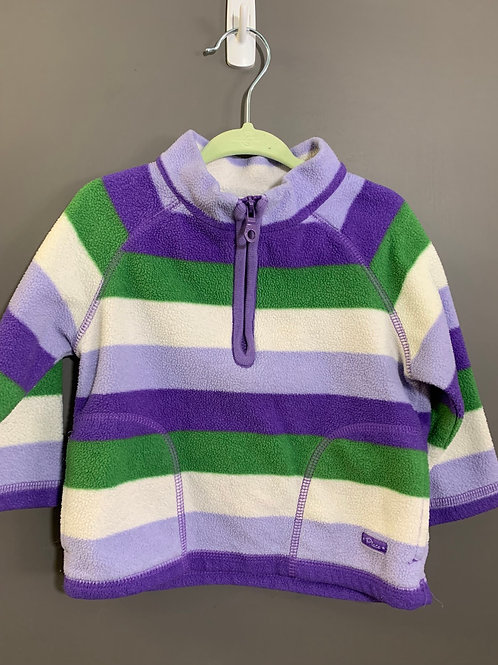 Size 18m CHILDREN'S PLACE Striped Fleece Pullover in Purple and Green