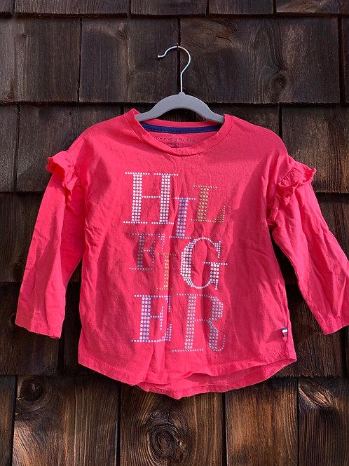 Size 7 TOMMY HILFIGER Pink Glitter Logo Top