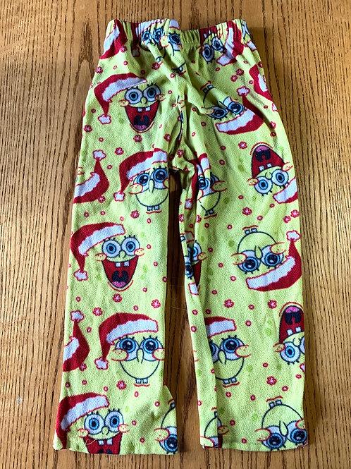 Size 8 Kids Sponge Bob Christmas Fleece PJ Pants