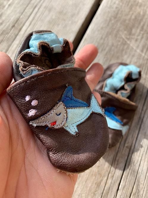 Size Infant Shark Soft Sole Shoes
