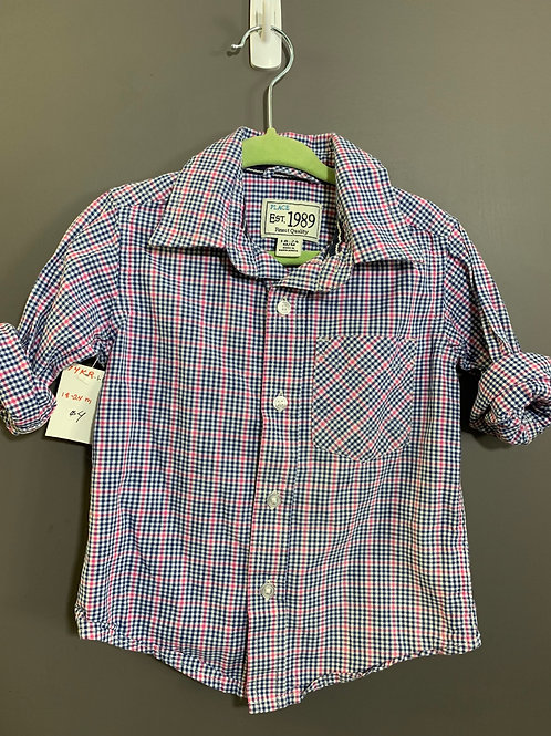 Size 18-24m CHILDREN'S PLACE Plaid Pink and Blue Shirt