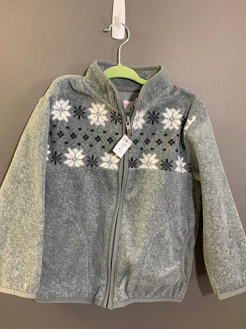 Size 3T JOE FRESH Grey Soft Snowflake Fleece