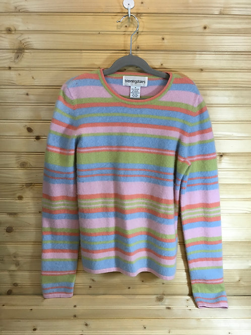 Size M Young Adult BLOOMINGDALE'S Striped Sweater
