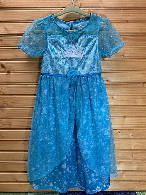 Size 2T Blue Princess Dress, Used