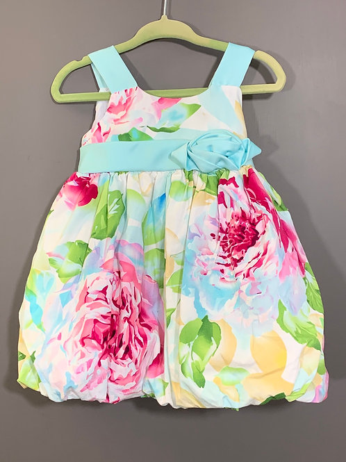 Size 12m JESSICA ANN Pastel Floral Party Dress, Used