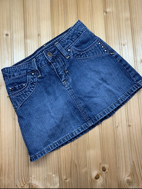 Size 8 RIDERS Studded Jean Skirt