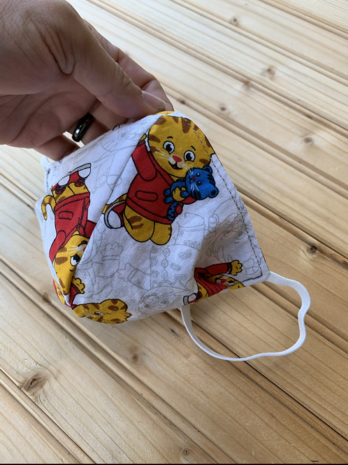 Child's FACE MASK (S), Neon Paws & Daniel Tiger, Handmade
