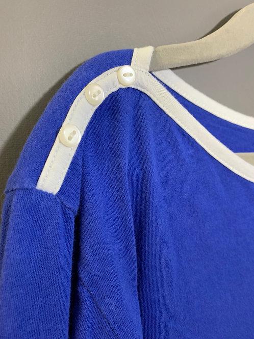 Size 8 Girls GAP KIDS Blue Boat Neck Top