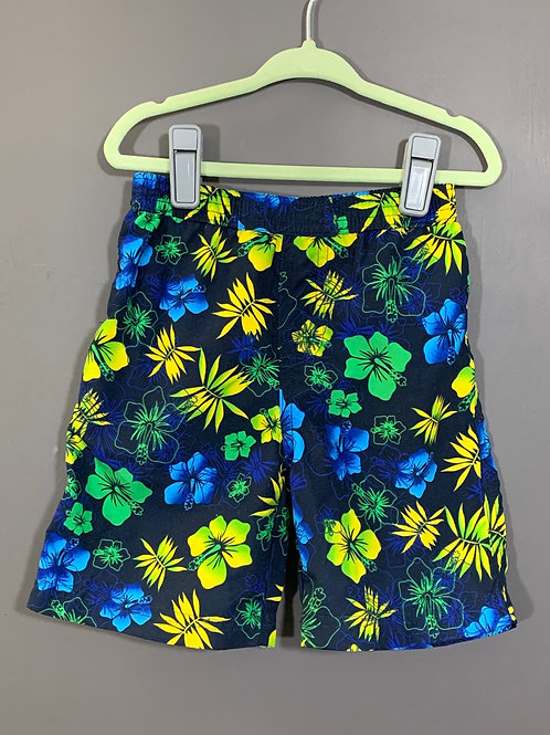 Size 12m BEACH BABY Hawaiian Swim Trunks, Used