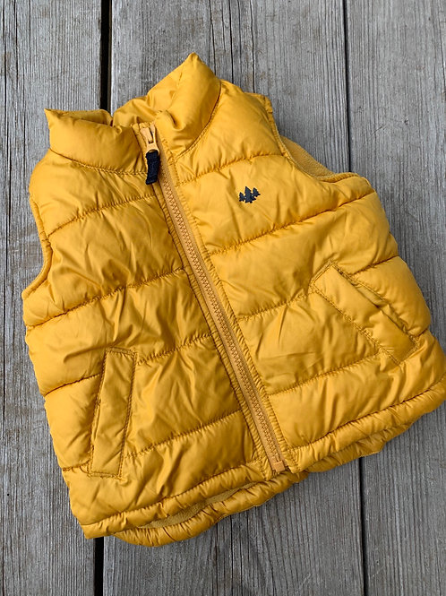 Size 12-18m OLD NAVY Yellow Puff Vest