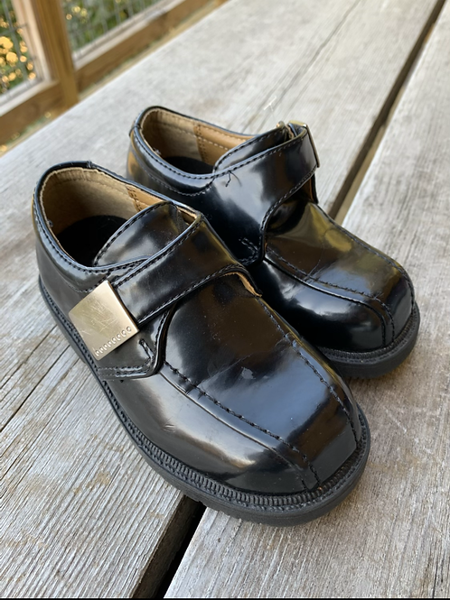 Size 6.5 Toddler FADED GLORY Black Dress Shoes