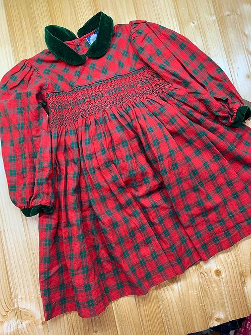 Size 2T CARRIAGE BOUTIQUE Plaid Dress