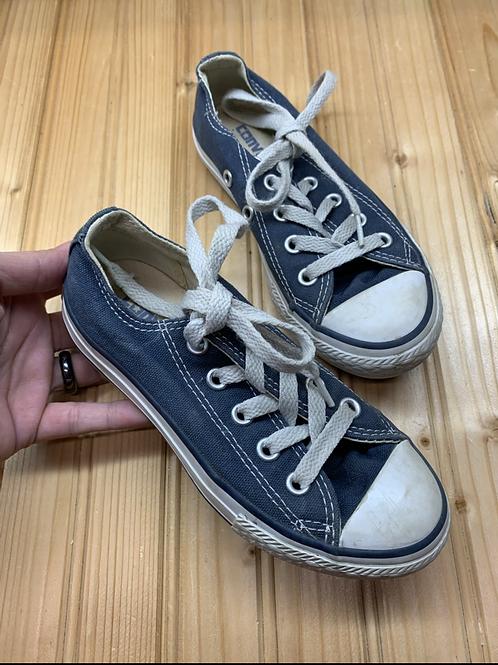 Size 11 Kids CONVERSE Blue Shoes