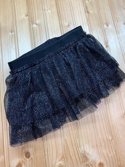 Size 2T Black Glitter Layered Skirt