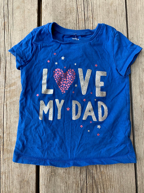 Size 2T CARTER'S Love Dad Shirt