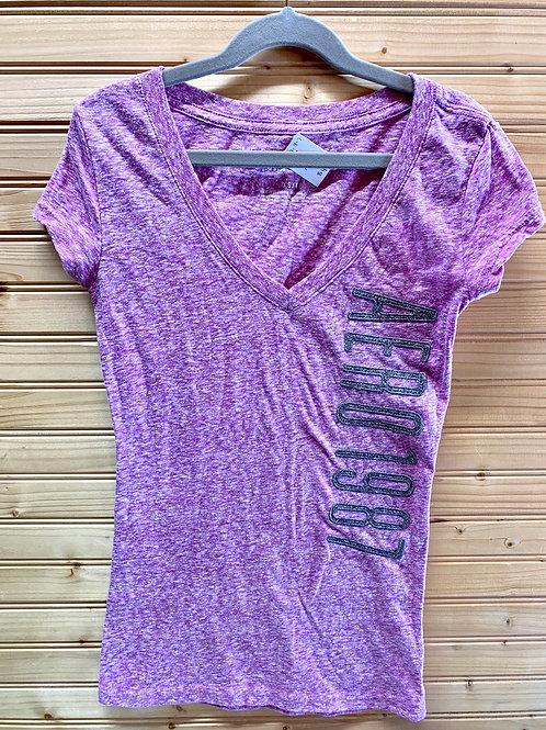 Size XS AEROPOSTALE Lavender Logo Shirt, Used