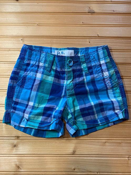 Size 7 PS AEROPOSTALE Plaid Shorts, Used