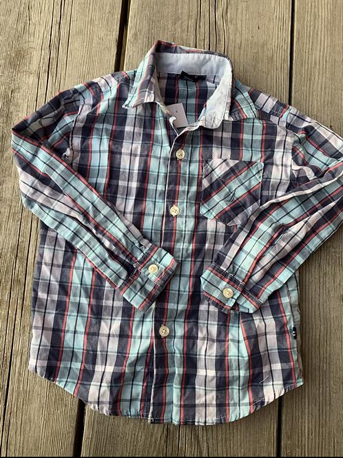 Size 4T NAUTICA Blue Plaid Shirt