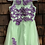Size 16 Youth Green and Purple Tulle Dress