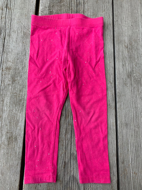 Size 2T CAT & JACK Pink Leggings with Sparkles, Used