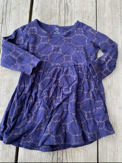 Size 18m YOGA SPROUT Navy and Gold Dress