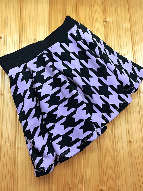 Size 8 JUSTICE Purple and Black Skirt