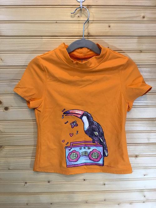 5/6 - LANDS' END - Orange Tucan Swim Shirt