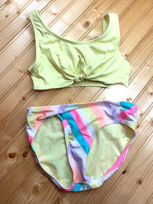 Size 10 JUSTICE 2pc Pastel Swimsuit